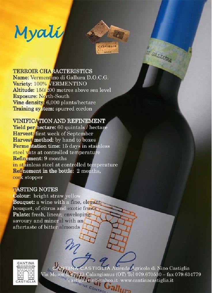 Myali Дегустация отмечает   Цвет: Яркий соломенно-желтый   Нос: вино с ароматами прекрасно, элегантные, экзотические фрукты и цитрусовые   Вкус: свежий, прямой, круглый, чабер и минеральные, с привкусом горького миндаля