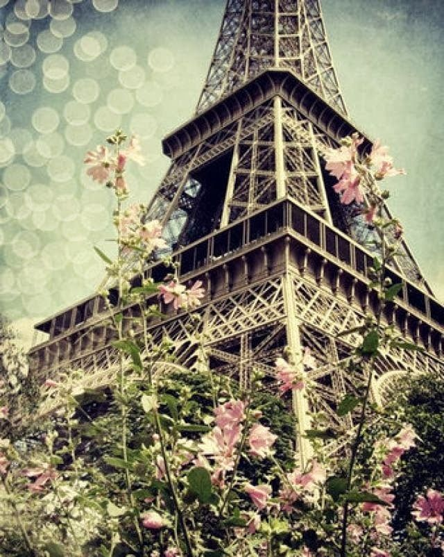 Una imagen de París: Paris Fashion, Spring Flowers, Tours Eiffel, Eiffel Towers, Travel Photo, Pink Paris, Paris France, Spring Bloom, Pastel Colors