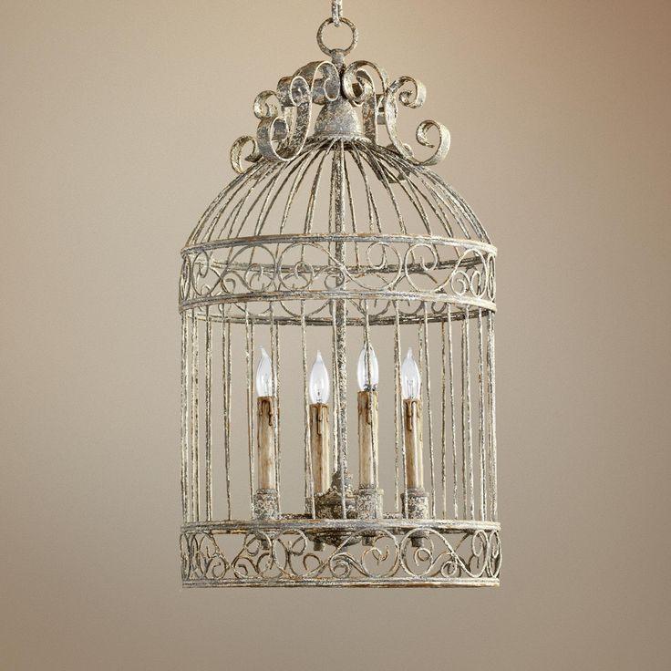 Quorum Birdcage 4 Light 15 Manchester Grey Pendant Lampsplus