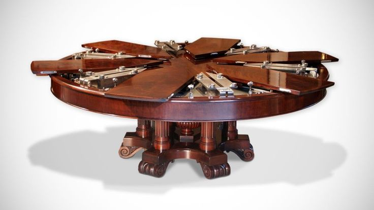 Design originale di grande genialità. Il tavolo espandibile: Fletcher Capstan Table.
