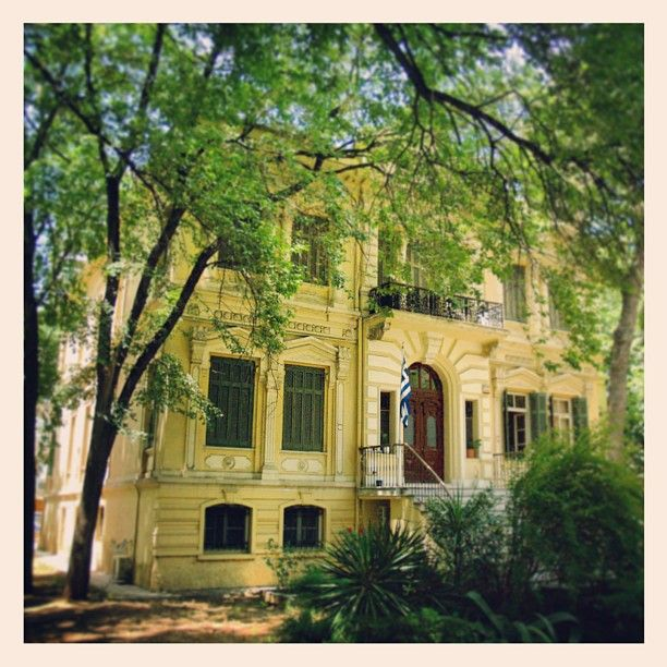 This beautiful old mansion now houses the Center for Byzantine Studies. (Walking Thessaloniki - Route 15, Faliro)