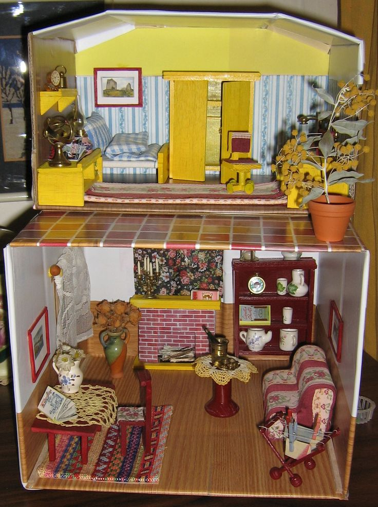 My dollhouse about the end of March 2013...