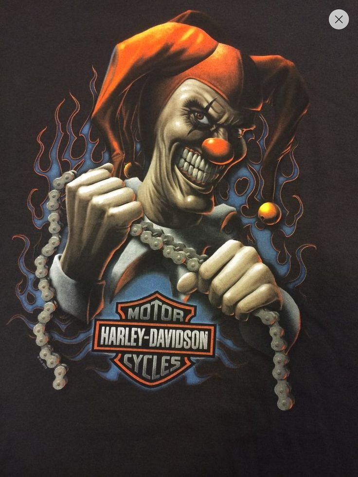 Airbrush Joker Wallpaper: Harley Davidson Evil Clown