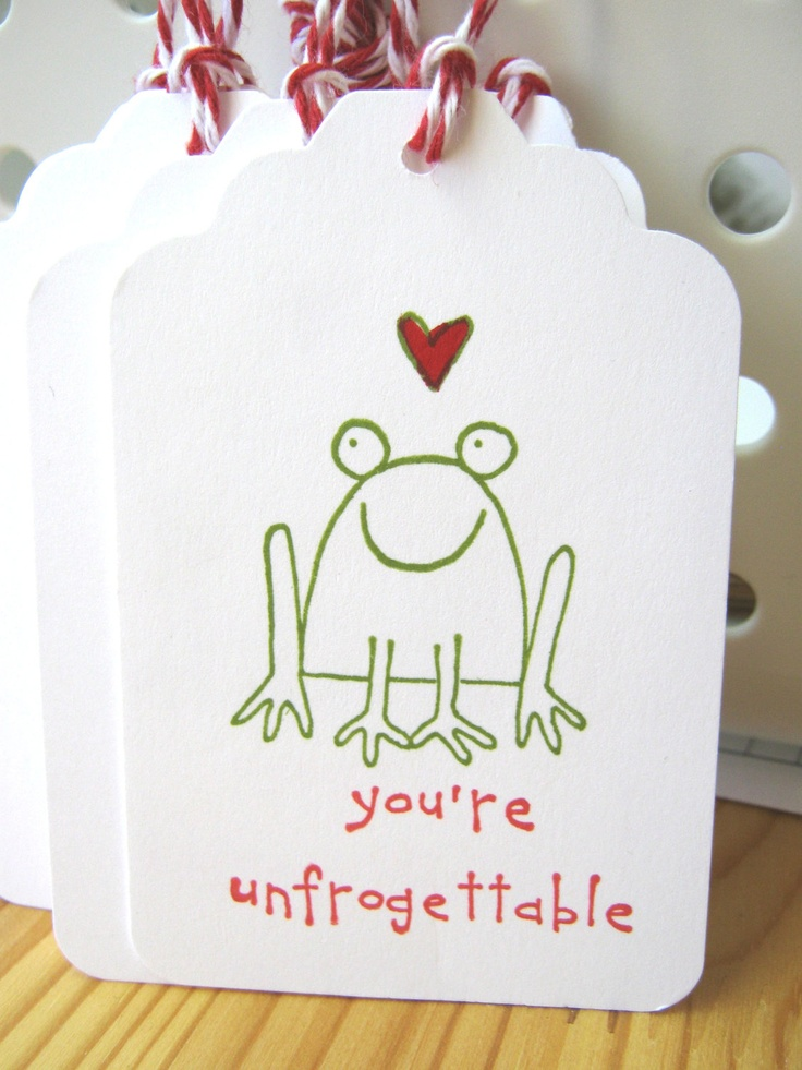 Frog Valentine Gift Tags