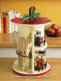 Apple kitchen organizer. When I get married I want my kitchen in apple decorations!!