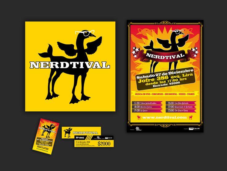 "Diseño gráfico para festival nerd ""Nerdtival"""