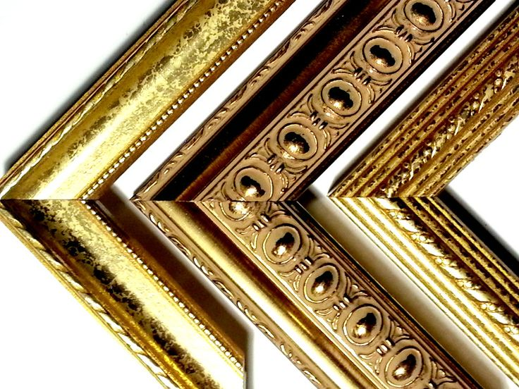 114 ft - GOLD TRIO - Ornate Gold Picture Frame Moulding, 3 Different Styles, Real Wood......... $94.99 #Frame&PrintWarehouseVT