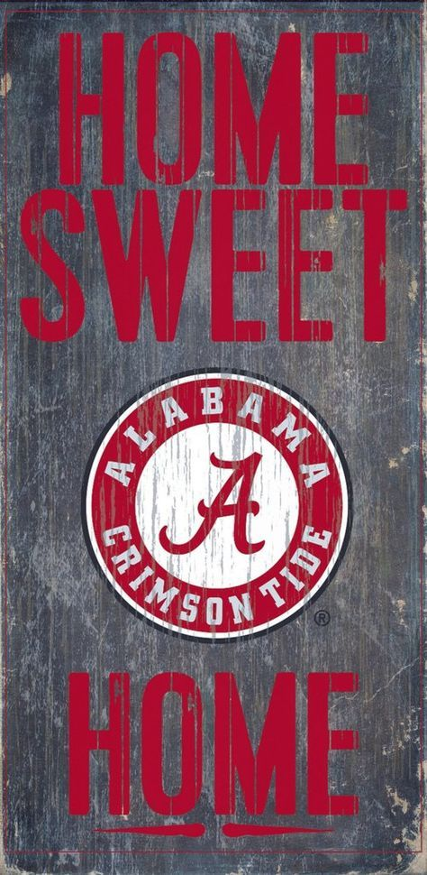 Is your home an Alabama Football Home? Then you need this sign. This Alabama sign is perfect for displaying around the home. It includes a piece of rope attached to the back for hanging. The sign is 6