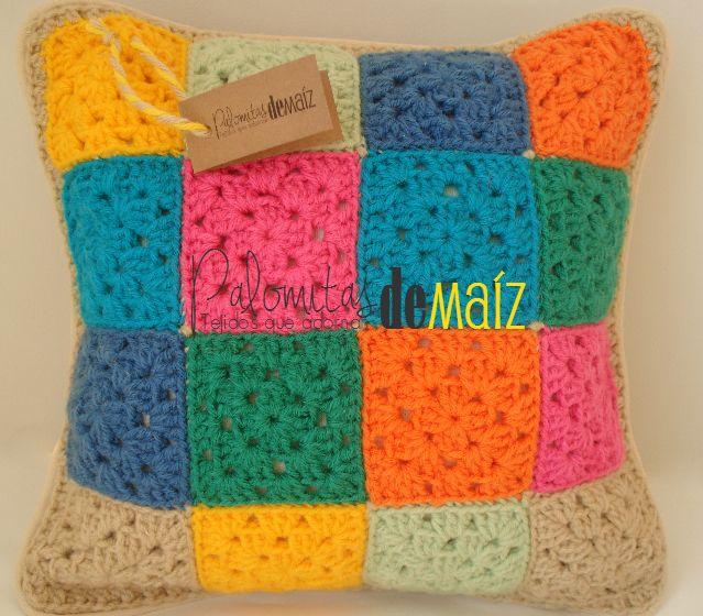 Almohad n crochet 4 x 4 mix de colores 180 en https for People s choice 65