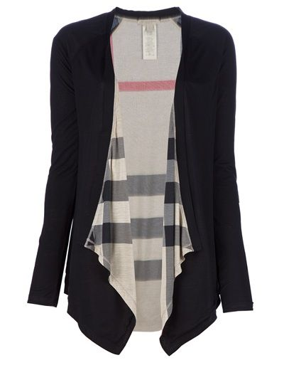 Black open cardigan from Burberry: Fashion, Style, Clothing, Burberry Brit, Fall Winte, Black Open, Open Cardigans, Dreams Closets, Drapes Cardigans