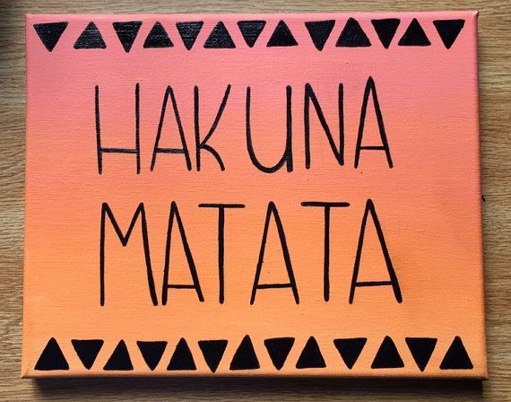 Hakuna Matata Lion King wood sign  by TurtlePondRoadDesign on Etsy