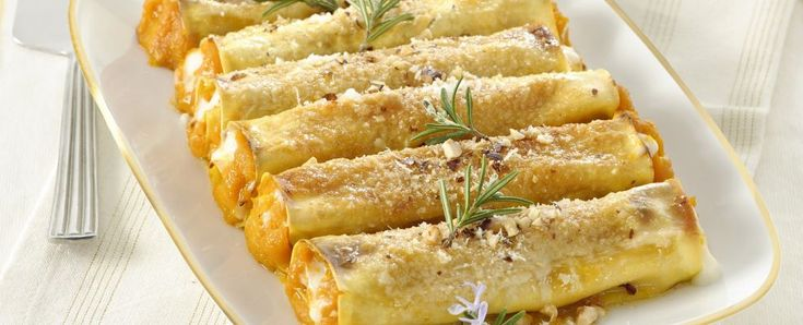 Cannelloni di zucca e formaggio di capra