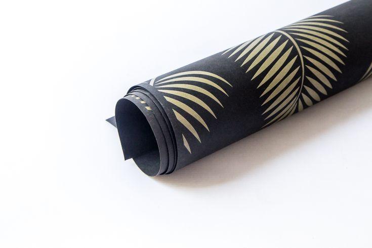 arkusz washpapa WZORY standard black 100/150 [złotozielona palma]