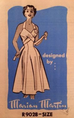 1950s wrap-around halter sun dress sewing pattern - Google Search