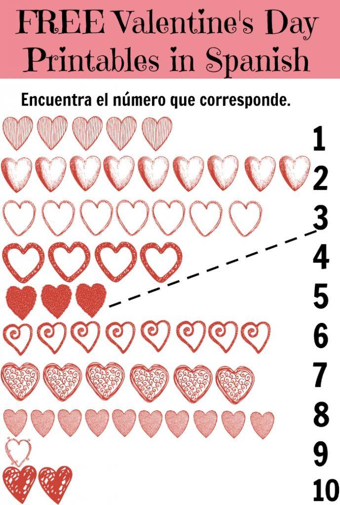 Free-Valentine's Day Printables in Spanish