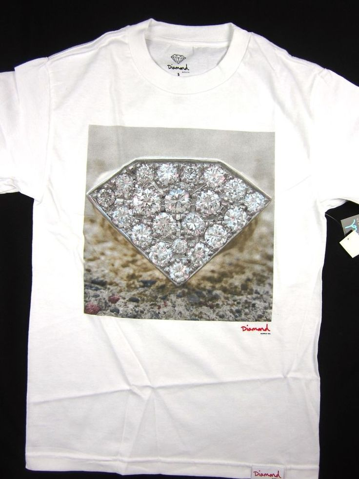 Diamond Supply Co Shine Ring Tee white shirt men's skate Urban size SMALL #DiamondSupplyCo #GraphicTee