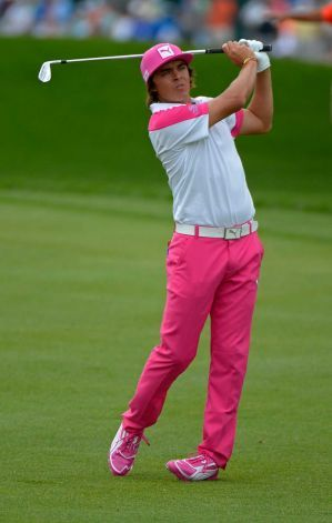 Ricky Fowler is in 2nd place of the Arnold Palmer Invitational after today's round Photo: Phelan M. Ebenhack. I love Rickie in pink!