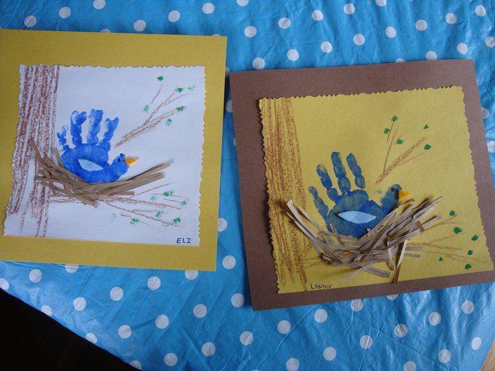 "Cute spring handprint art ("",)"