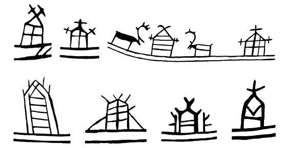 Food Storage - Shaman´s drum symbols in Scandinavia