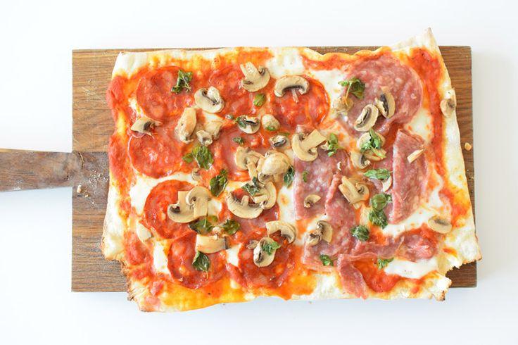 Chorizo, salami og champignon