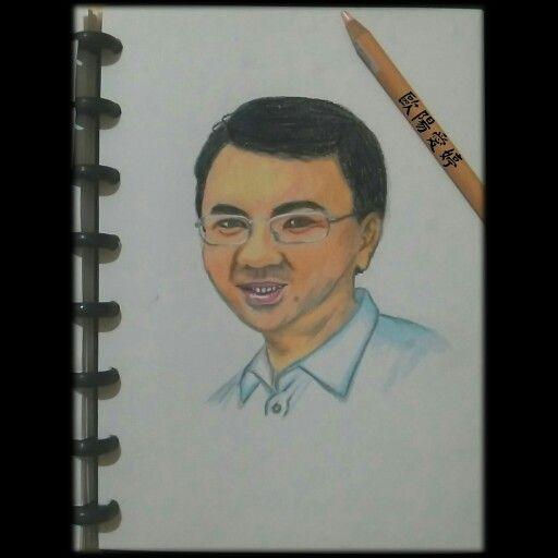 #ahok #basukbtp #gubernurjakarta #drawing #art #coloredpencils
