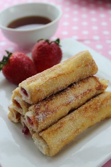 French Toast Roll Ups - Fill with Jam, Cream Cheese, Nutella or whatever strikes your fancy