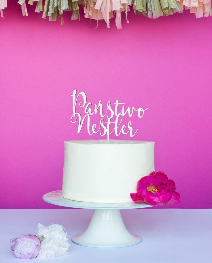 Cake topper państwo + nazwisko – METHOD_SHOP