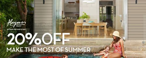 Make the Most of Summer with 20% of Haymes Paints