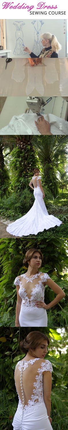 Wedding dress sewing course. How to make a wedding dress? https://corsetacademy.net/introduction-gown/