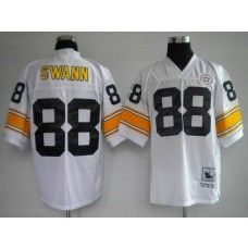 Mitchell & Ness Steelers #88 Lynn Swann White Stitched Throwback NFL Jersey