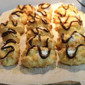Cream Puffs filled with Whipping Cream