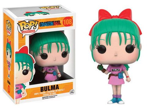 FIGURA POP DRAGON BALL: BULMA Dragon Ball Nueva serie de figuras POP de Dragon Ball. Figura de 9cm.Fabricante: FUNKO