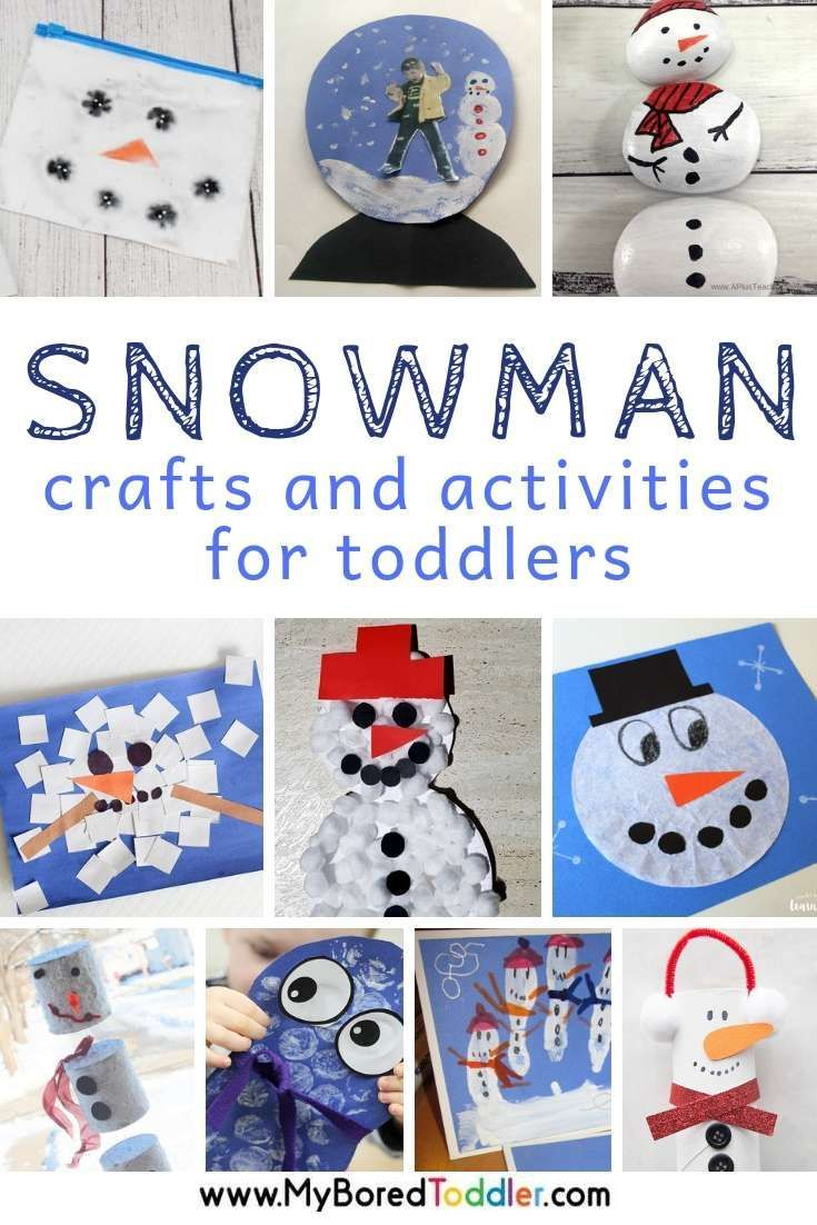 Snowman Craft And Activities For Toddlers Easy Winter Toddler