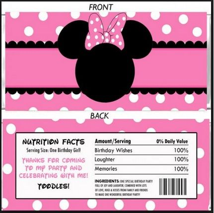 Minnie Mouse Made By Lynn White Paulina 1st Bday Candy Bar