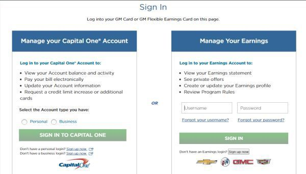 Capital One: GM Credit Card Login To Access Online Account