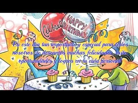 Cumpleaños feliz  Feliz cumpleaños hijo