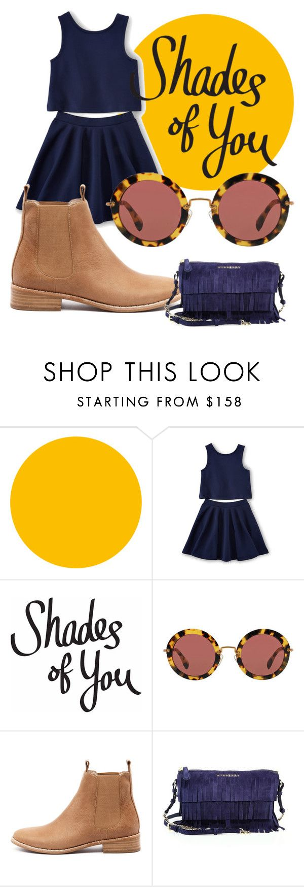 """""""Shades of You: Sunglass Hut Contest Entry"""" by dinah-lance ❤ liked on Polyvore featuring Miu Miu, Mollini, Burberry and shadesofyou"""