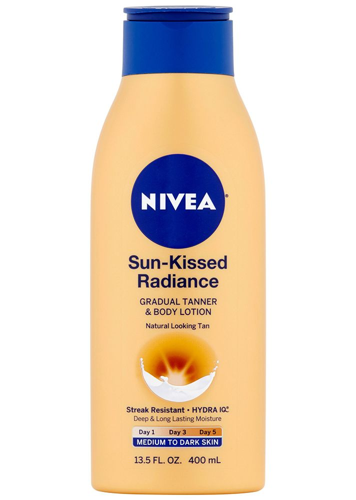 Best Drugstore Self-Tanners—Nivea Sun-Kissed Radiance Gradual Tanner & Body Lotion  $6.99 Target
