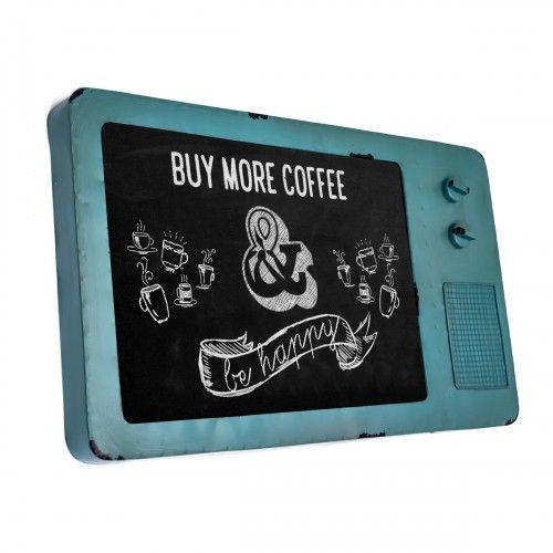 Ketawai Biru | papan tulis kapur chalkboard kafe menu dekor interior design