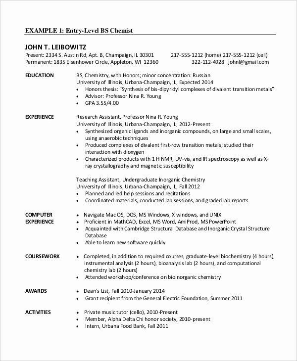 Entry Level Software Developer Resume Inspirational Chemical Engineer Resume Template 6 Free Engineering Resume Templates Resume Template Resume Template Word