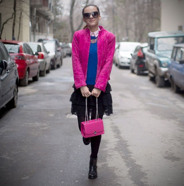 OOTD: Mix them up and spread some fuchsia love