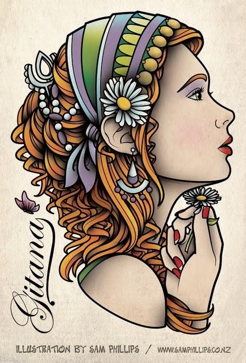Sam Phillips Tattoo flash