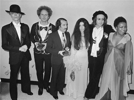 This is what real talent looks like, Bowie, Art Garfunkel, Paul Simon, Yoko Ono, John Lennon and Roberta Flack 1975