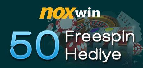 NoxWin'den Tüm Üyelere 50 Freespin Hediye