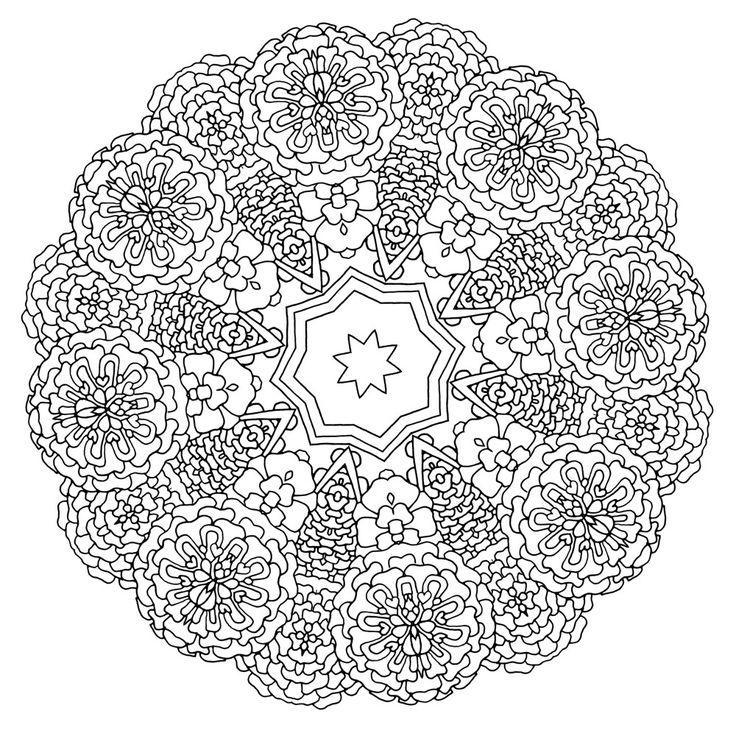 Heal Mandala Coloring book for adults Pattern 11