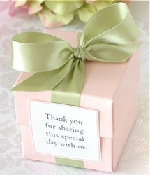 Pink and Green Favor Box