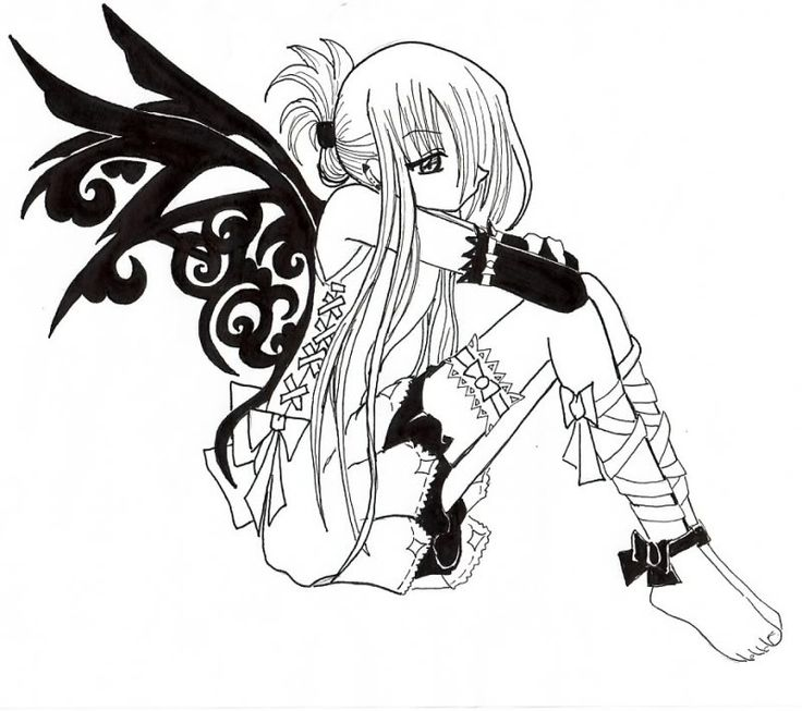 anime vampire girl coloring pages emo vampire colouring