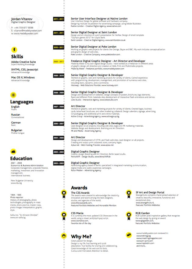 168 best Creative CV Inspiration images on Pinterest Creative cv - best sites to post resume