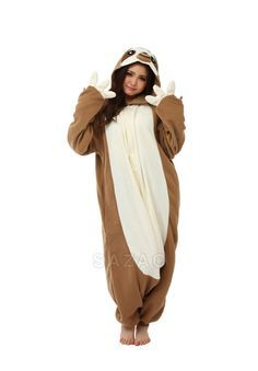 This sloth onesie is a dream come true for the silly sloth lover on your list.