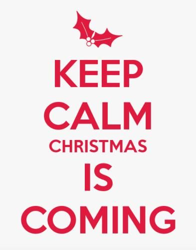 Merry Christmas messages 2016 for friends,family on Facebook,whatsapp,Pinterest and Instagram.The quotation reads Keep calm, Christmas is coming. #MerryChristmasQuotes